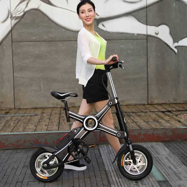 12 Inch  Foldable Electric Scooter Wheel Brushless Motor Panasonic Battery