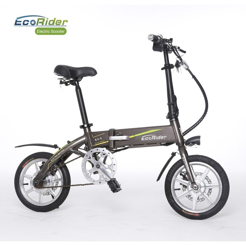 14 Inch Tire 2 Wheel Electric Bike 4-6H Charging Time E Bike Electric Bicycle Foldable