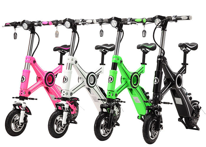 Lithium Battery 36V Two Wheel Electric Bike , Foldable Electric Bikes For Adults
